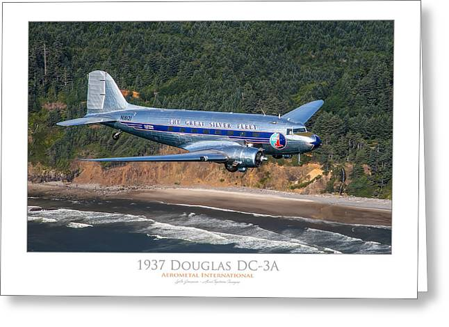 1937 Douglas Dc-3a Greeting Card