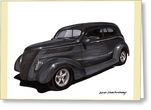 1937 Ford 2 Door Street Rod Greeting Card