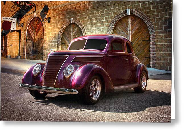 1937 Ford Greeting Card by Andrea Kelley