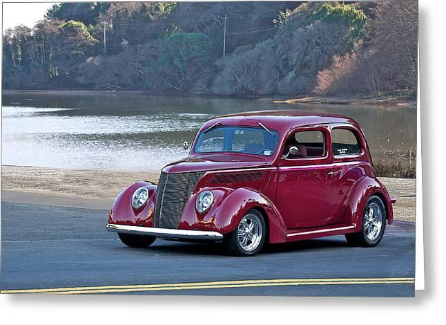 1937 Ford Tudor Sedan Greeting Card by Dave Koontz