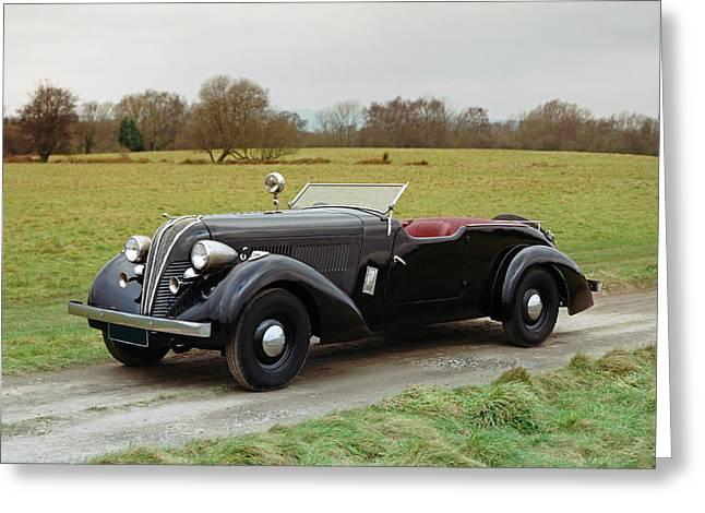 1937 Hudson Eight Century 2-door Greeting Card
