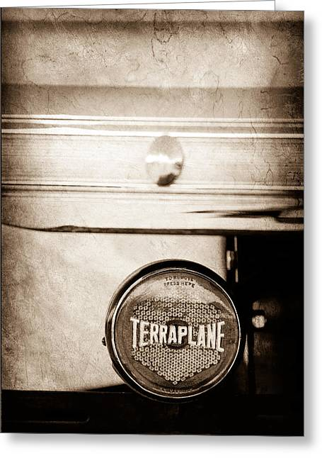 1937 Hudson Terraplane Pickup Truck Taillight Emblem Greeting Card by Jill Reger