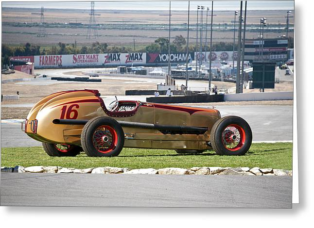 1937 Packard Custom Indy Conversion Greeting Card