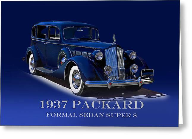 1937 Packard Formal Sedan Super 8 Greeting Card