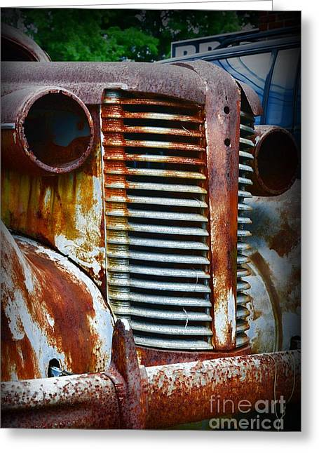 1937 Rusty Buick Greeting Card