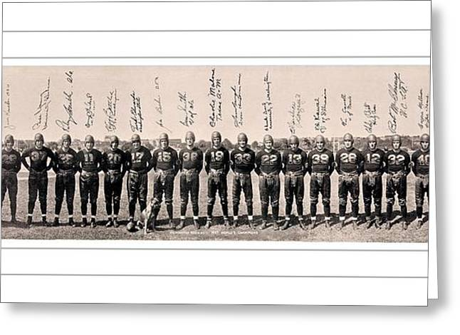 1937 Washington Redskins Team Photo Greeting Card by Unknown