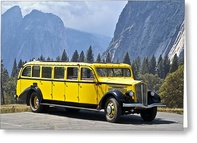 1937 Whites Touring Bus Greeting Card