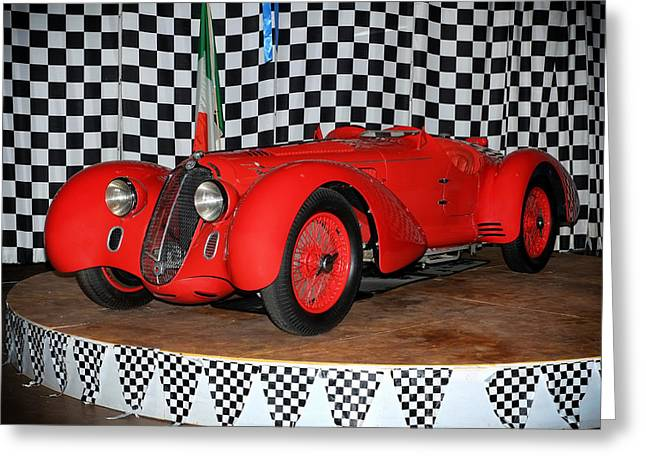 1938 Alfa Romeo 2900b Mm Greeting Card