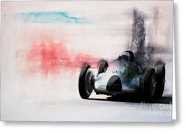 1938 Auto Union Type D Greeting Card