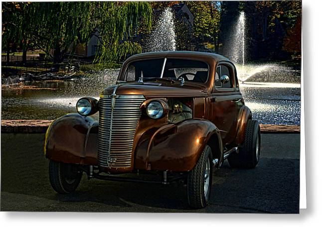 1938 Chevrolet Coupe Street Dragster Greeting Card