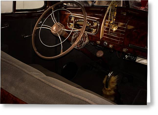 1938 Chevrolet Interior Greeting Card