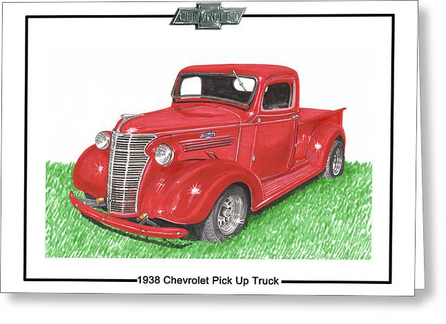 1938 Chevrolet Pick Up Truck Greeting Card