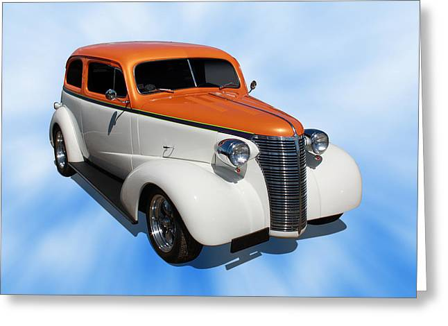 Greeting Card featuring the photograph 1938 Chevy Tudor by Keith Hawley