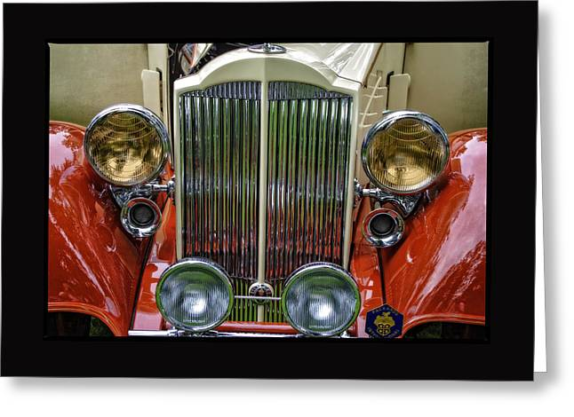 Greeting Card featuring the photograph 1928 Classic Packard 443 Roadster by Thom Zehrfeld