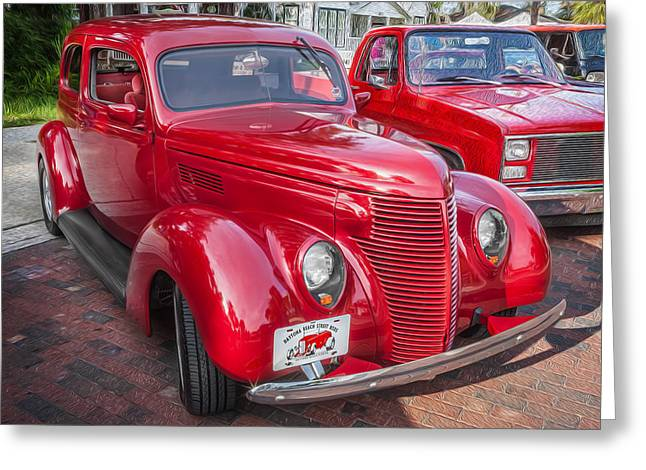 1938 Ford 2 Door Sedan Painted  Greeting Card by Rich Franco