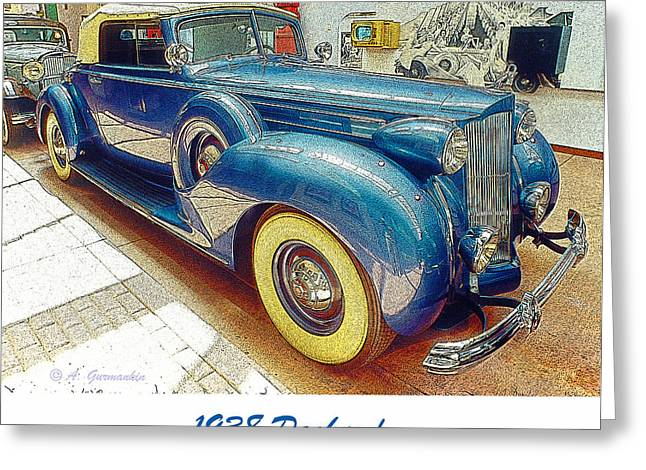 1938 Packard National Automobile Museum Reno Nevada Greeting Card by A Gurmankin