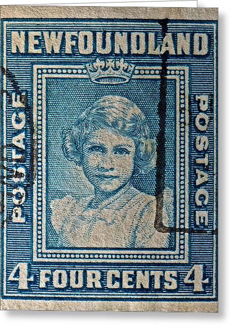 1938 Queen Elizabeth II Newfoundland Stamp Greeting Card