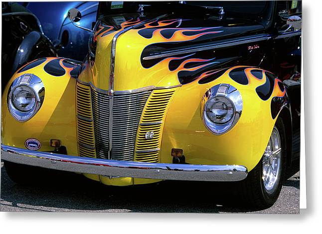 1939 1940 Ford Flame Job Painted Hot Greeting Card