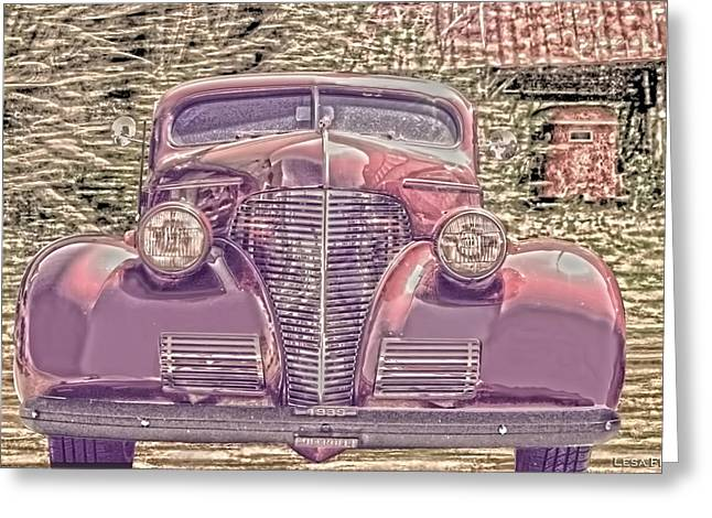 1939 Chevy Immenent Front Color Greeting Card by Lesa Fine