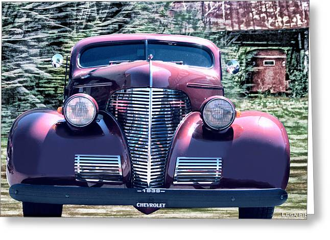 1939 Chevy Immenent Front Original Greeting Card by Lesa Fine