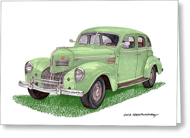 1939 Chrysler Imperial Greeting Card by Jack Pumphrey