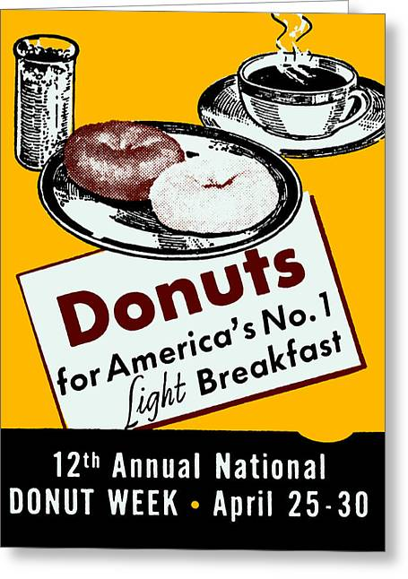 1939 Donut Poster Greeting Card