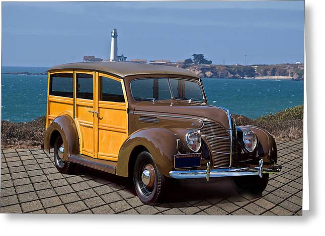 1939 Ford 'woody' Wagon Greeting Card by Dave Koontz