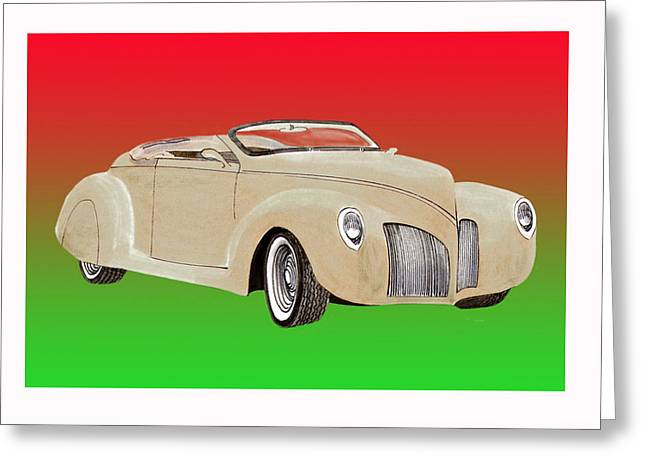1939 Lincoln Zephyr Speedster Greeting Card by Jack Pumphrey