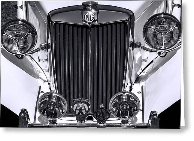 1939 Mg Classic In Black And White Greeting Card by Jordan Blackstone