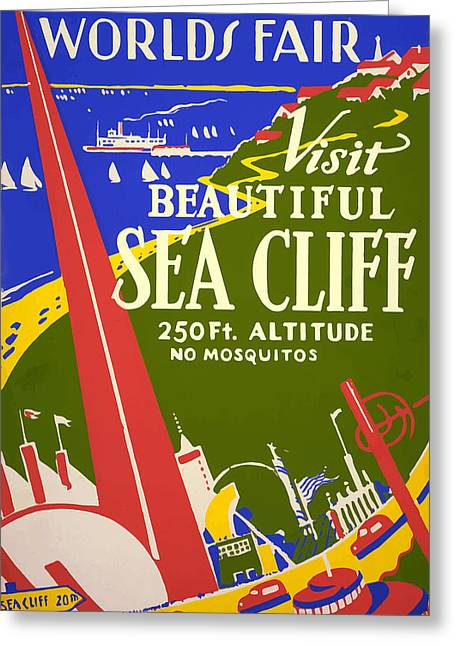 1939 Sea Cliff - Worlds Fair Celebration Greeting Card by American Classic Art