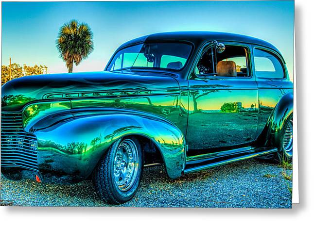 1940 Chevy Sedan Greeting Card by Brian Wright