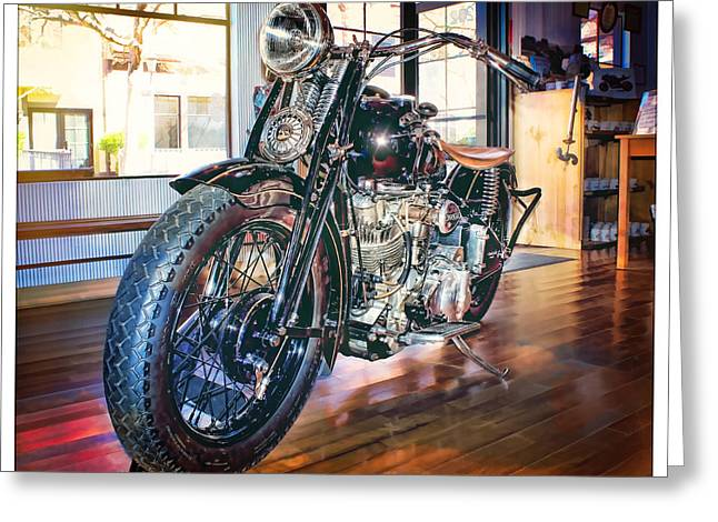 Greeting Card featuring the photograph 1940 Crocker Big Tank by Steve Benefiel