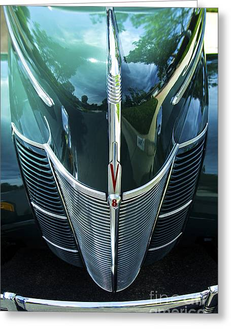 Greeting Card featuring the photograph 1940 Ford Classic Deluxe Two Door Sedan V-8 by Jerry Cowart