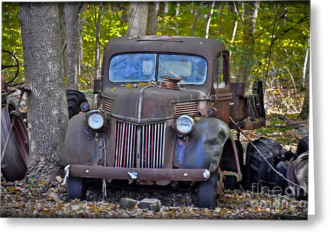 1940 Ford Dump Truck Greeting Card by Gary Keesler