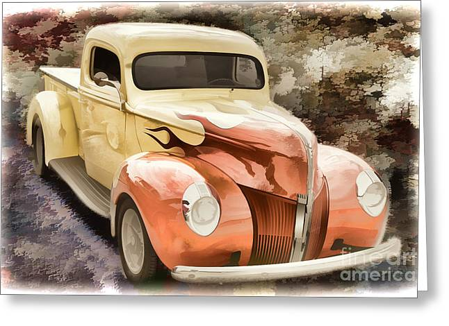 1940 Ford Pickup Truck Painting Car Or Automobile In Color  3133 Greeting Card