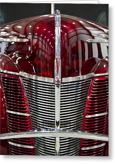 1940 Ford V8 Grill  Greeting Card