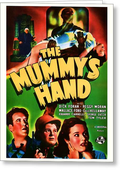 1940 The Mummys Hand Vintage Movie Art Greeting Card