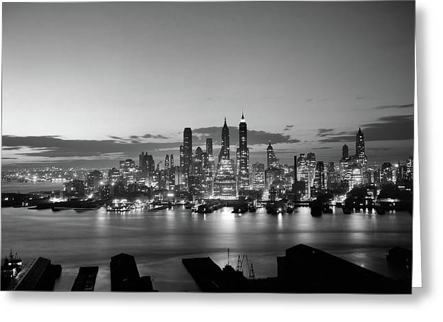1940s 1950s Downtown Manhattan East Greeting Card