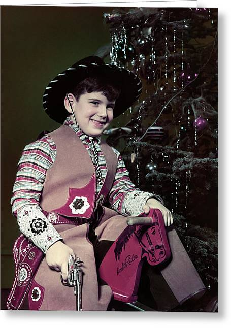 1940s 1950s Smiling Boy Dressed Greeting Card