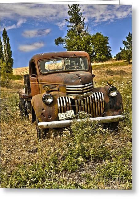 1940's Chevy Truck Greeting Card by Camille Lyver