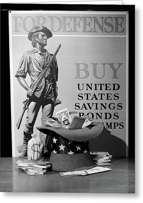 1940s Minute Man Defense Poster Ww2 Buy Greeting Card