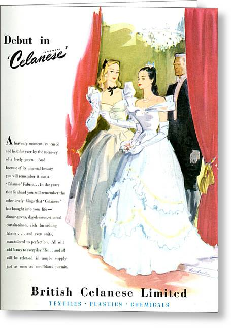 1940s Uk Celanese Magazine Advert Greeting Card by The Advertising Archives