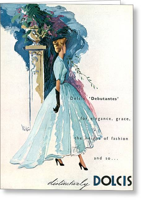 1940s Uk Dolcis Magazine Advert Greeting Card by The Advertising Archives