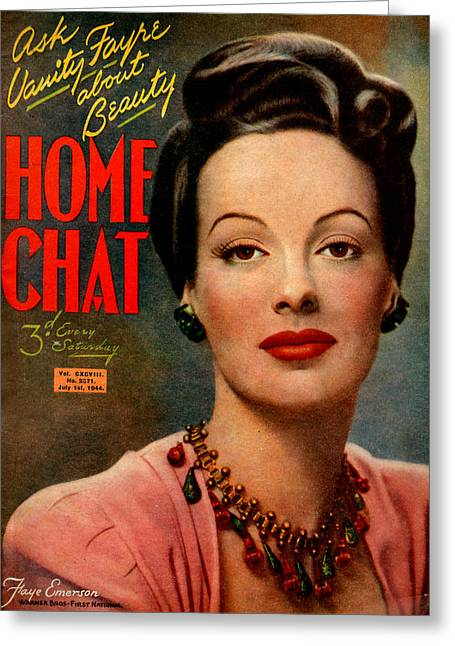 1940s Uk Home Chat Magazine Cover Greeting Card by The Advertising Archives