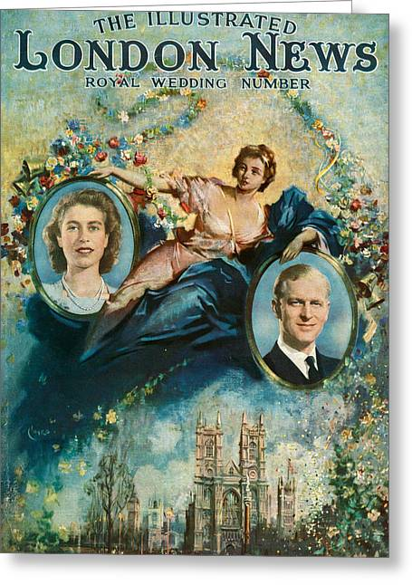 1940s Uk Illustrated London News Greeting Card