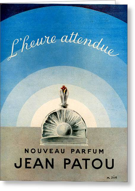 1940s Uk Jean Patou Magazine Advert Greeting Card by The Advertising Archives