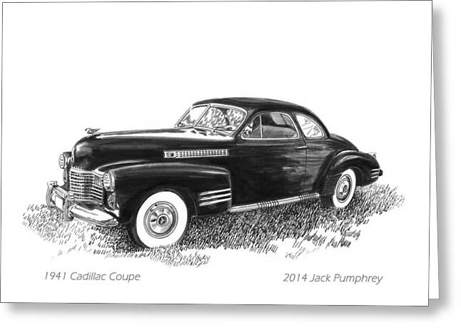 1941 Cadillac 62 Coupe Greeting Card by Jack Pumphrey