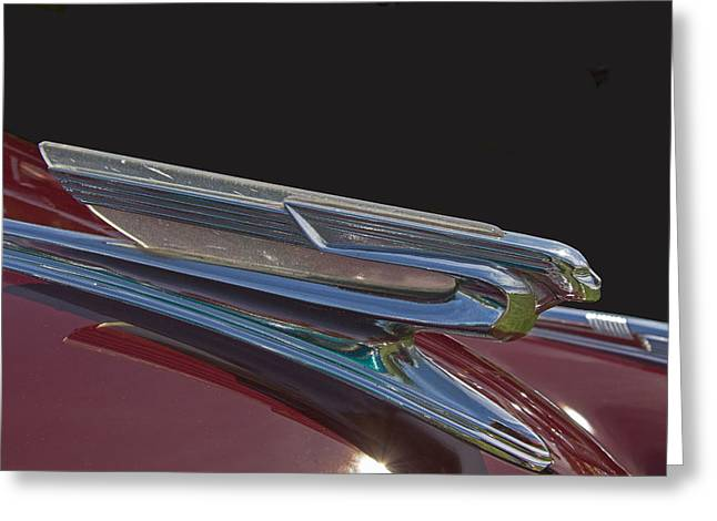 1941 Chevrolet Hood Ornament Greeting Card by Nick Gray