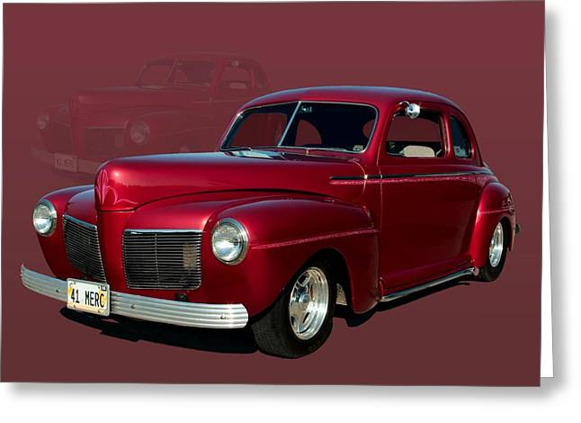 1941 Mercury Custom Coupe Greeting Card by Tim McCullough