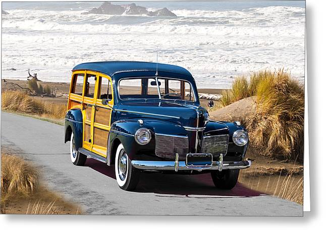 1941 Mercury Woody Wagon Greeting Card by Dave Koontz